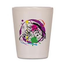 colorful grunge dance Shot Glass