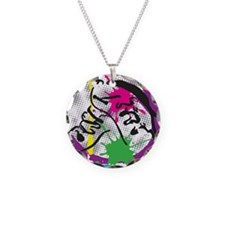 colorful grunge dance Necklace Circle Charm