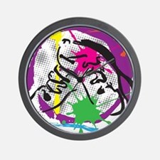 colorful grunge dance Wall Clock