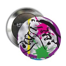 """colorful grunge dance 2.25"""" Button"""
