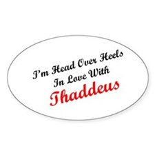 In Love with Thaddeus Oval Decal