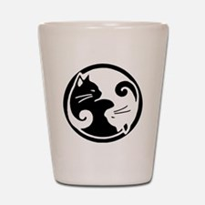 yin-yang-cat Shot Glass