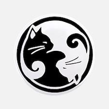 """yin-yang-cat 3.5"""" Button"""