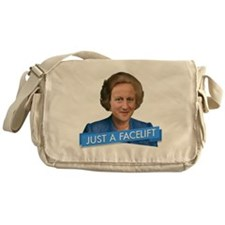 thatcher cameron- just a facelift Messenger Bag