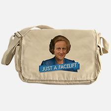 thatcher cameron- just a facelift Messenger Bag