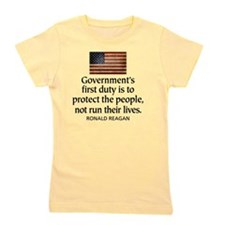Governments first duty Girl's Tee
