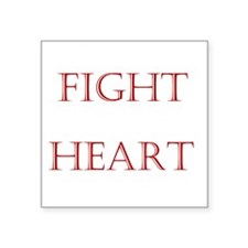 "2-WhiteFightForYouCentered Square Sticker 3"" x 3"""