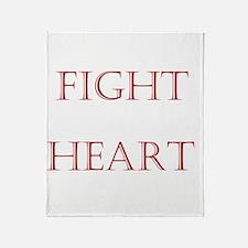 2-WhiteFightForYouCentered Throw Blanket