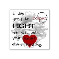 "2-HeartStopsLogo20x20 Square Sticker 3"" x 3"""