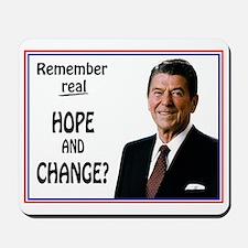 Reagan HOPE CHANGE - WHITE Mousepad
