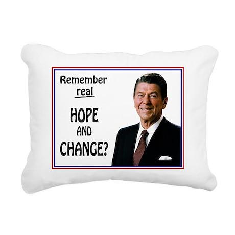 Reagan HOPE CHANGE - WHI Rectangular Canvas Pillow