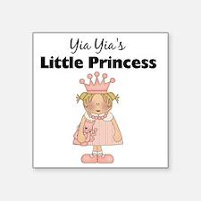"little princess 2 Square Sticker 3"" x 3"""