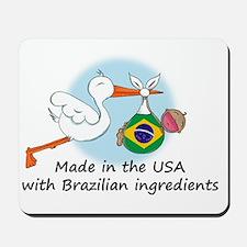 stork baby brazil 2 Mousepad