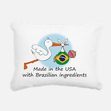 stork baby brazil 2 Rectangular Canvas Pillow