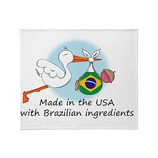 stork baby brazil 2 Throw Blanket
