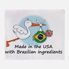 stork baby brazil 2 Throw Blanket