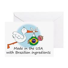 stork baby brazil 2 Greeting Card