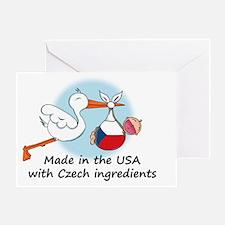stork baby czech 2 Greeting Card