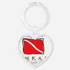 round-sticker-prepared-bwraf Heart Keychain