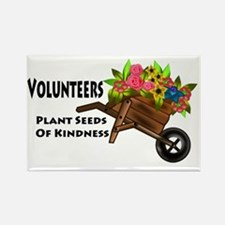 plant seeds kindness Rectangle Magnet