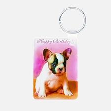 happy_birthday_french_bull Keychains