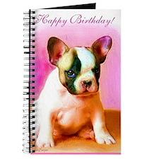 happy_birthday_french_bulldog_art_greeting Journal