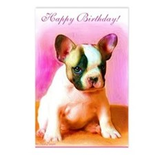 happy_birthday_french_bul Postcards (Package of 8)