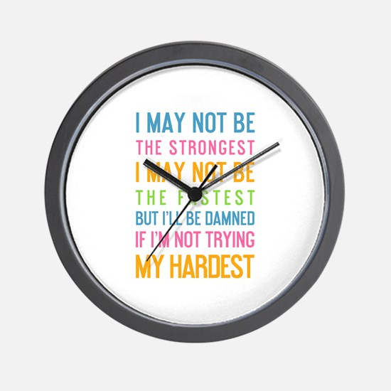 Funny Motivate Wall Clock