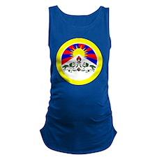 btn-flag-tibet Maternity Tank Top