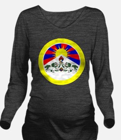 btn-flag-tibet Long Sleeve Maternity T-Shirt
