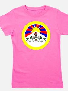 btn-flag-tibet Girl's Tee