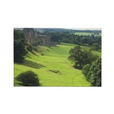 Alnwick Castle 9x12 print Rectangle Magnet