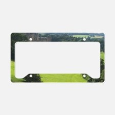 Alnwick Castle 9x12 print License Plate Holder