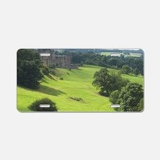 Alnwick Castle 10x14 print Aluminum License Plate