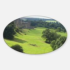 Alnwick Castle 10x14 print Sticker (Oval)