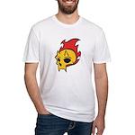 Flaming Devil Skull Tattoo Fitted T-Shirt
