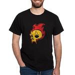 Flaming Devil Skull Tattoo Dark T-Shirt