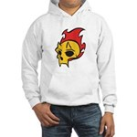 Flaming Devil Skull Tattoo Hooded Sweatshirt