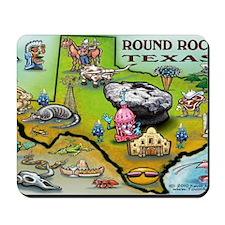 Round Rock TEXAS Map 11x17 Mousepad