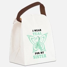 I Wear Teal for my Sister Canvas Lunch Bag