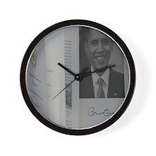 Barack Obama Official Program Wall Clock
