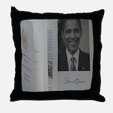 Barack Obama Official Program Throw Pillow