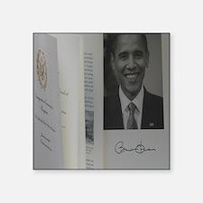 "Barack Obama Official Progr Square Sticker 3"" x 3"""