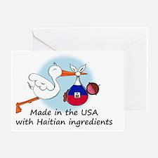 stork baby haiti 2 Greeting Card