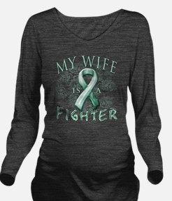 My Wife is a Fighter Long Sleeve Maternity T-Shirt