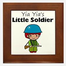 little soldier boy Framed Tile