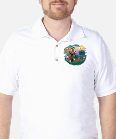 Poodle (Toy apricot) - St Francis2 Golf Shirt