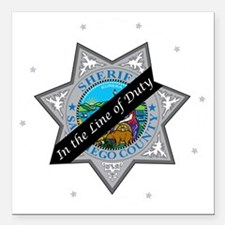"""Line of Duty Square Car Magnet 3"""" x 3"""""""