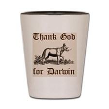 Darwin shirt Shot Glass