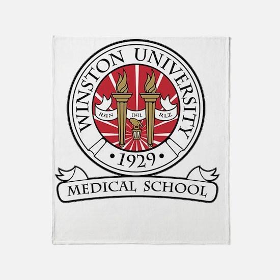 Winston uni student light Throw Blanket
